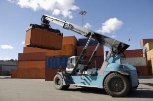 Telehandler Forklift in Operation